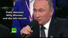 Willy Wimmer wird von Wladimir Putin persönlich übersetzt 07.04.2016 - B...