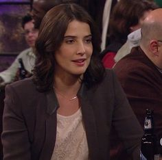 Robin's grey blazer with leather collar on How I Met Your Mother.  Outfit Details: http://m.wornontv.net/9949/