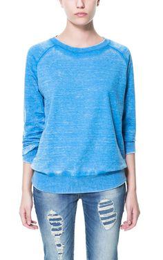 Image 1 of ROUND NECK SWEATSHIRT from Zara