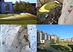 BaNanna Park. BaNanna park i Nannasgade på Nørrebro er en flot park med boldbaner, legepladser, bordtennis og græsplæne. I Parken er opstillet en klatrebue.Væggen er ca. 14 meter høj og byder på al slags klatring lige fra crimpet slab til hårdtpumpet klatring i det store tag.