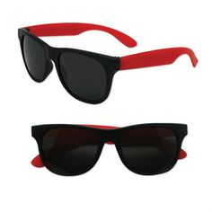 Adult Size Premium Black and Red Sunglasses Case Pack 300