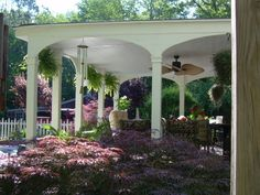 pergola with fans