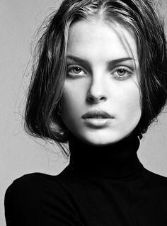 a black turtleneck is always a classy staple
