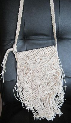 Vintage 70s purse bag macrame string hippie by vintageartizania, $44.99  I had one just like this when I was younger!! Loved it and wore it out.