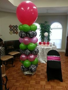 Lime green , hot pink and Zebra STRIPES