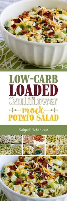 I was skeptical about the idea of a mock potato salad made with cauliflower, but this Low-Carb Loaded Cauliflower Mock Potato Salad has been a huge hit with everyone who's tried it! And this amazing salad that's perfect for summer parties is low-carb, Keto, low-glycemic, and gluten-free. Try it; you'll be glad you did! [found on KalynsKitchen.com]