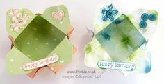 Stampin' Up! UK Demonstrator Pootles - Envelope Punch Board Pretty Petal Pot! Overhead View