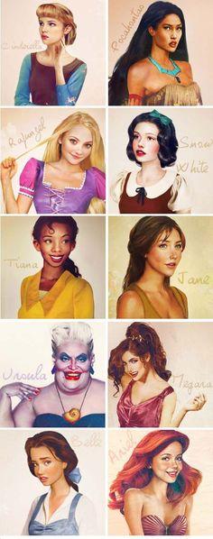 Disney hercegnők újrarajzolva