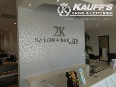 Dimensional lettering offers an elegant look for interior walls for any business. #KauffsLettering #Elegance #Design #Lettering #Business #Kauffs