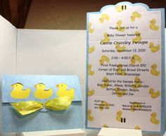 cricut baby duck shower | Invites and Announcements