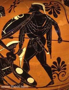 ARES was the great Olympian god of war, battlelust, civil order and manly courage. In Greek art he was depicted as either a mature, bearded warrior dressed in battle arms, or a nude beardless youth with helm and spear. Because of his lack of distinctive attributes he is often difficult to identify in classical art.