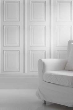 white panelling wallpaper by young & battaglia