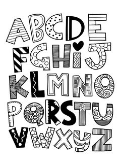 Hand drawn capital cartoon English alphabet with capital letters - Alphabet and FONT - Vector funny comics font. Hand drawn capital cartoon English alphabet with capital letters - Alphabet Drawing, Hand Lettering Alphabet, Doodle Lettering, Creative Lettering, Calligraphy Letters, Doodle Alphabet, Abc Alphabet, Cute Fonts Alphabet, Lettering Styles Alphabet