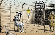 Hunger Strikes Go On In Guantánamo - http://www.globecartoon.com/