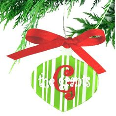 $8 Deck the Halls with our adorable Pinstripe monogrammed acrylic and ribbon Christmas Ornaments. - See more at: http://www.morgan-company.com/product.cfm?p=3518&c=55&page=pinstripe-acrylic-christmas-ornament#sthash.N0dZimO8.dpuf