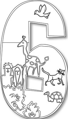 number clipart black and white creation - Google Search