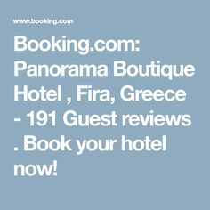 Booking.com: Panorama Boutique Hotel , Fira, Greece - 191 Guest reviews . Book your hotel now!