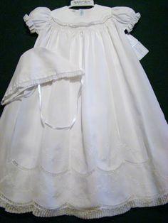 Darling. Baptism Dress, Christening Gowns, Blessing Dress, Heirloom Sewing, Well Dressed, Vintage Sewing, Baby Dress, Smocking, Flower Girl Dresses