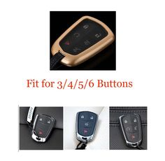 Gold Shell Cover Case Holder For Cadillac CTS XTS XTS ATS 2014+ Remote Key Fob #Budgettank