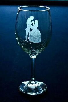 Disney Beauty and the Beast Wedding champagne glass  | Wedding Glasses