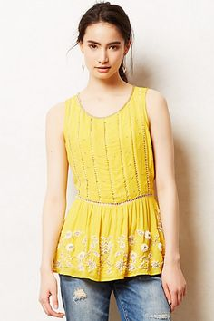 Calendula Peplum Blouse  #anthropologie #anthrofave