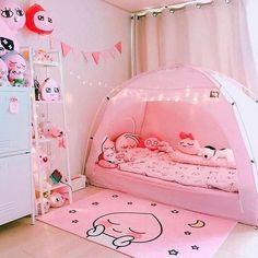 Girl Bedroom Designs, Room Ideas Bedroom, Bedroom Decor, Cute Room Ideas, Cute Room Decor, Pastel Room, Pink Room, Kawaii Bedroom, Game Room Design