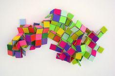 aestheticgoddess:  Geometric felt by Sarah Applebaum