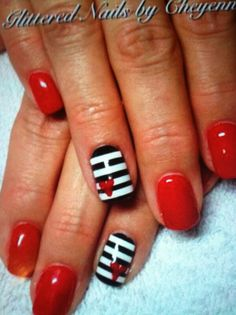 Sweetheart red nails