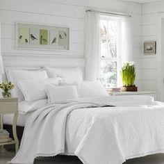 Shop for Laura Ashley Heirloom Crochet White Cotton 3-Piece Quilt Set. Get free shipping at Overstock.com - Your Online Fashion Bedding Outlet Store! Get 5% in rewards with Club O! - 21190819