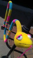 Snake Bike Rack Yarn Bomb by oywiththeplushies
