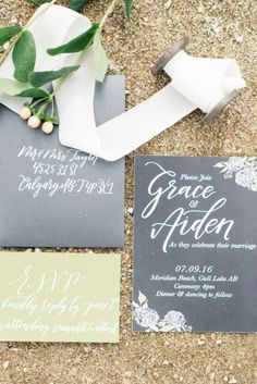 Elegant and Fun Meridian Beach Shoot - Style Inspired Weddings Invitation Suite, Invitations, Beach Shoot, Paper Decorations, Color Pallets, Favorite Color, Super Easy, Things To Think About, Marriage
