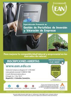 #Especialización en Gestión de Portafolios de Inversión y Valoración de Empresas.