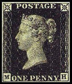 6 maggio 1840 In Inghilterra entra in uso il primo francobollo della storia: il Penny Black, illustrato con l'effigie della regina Vittoria. Prima dell'introduzione del francobollo l'onere del trasporto postale era a carico del destinatario.