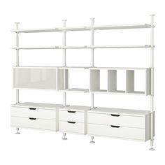 STOLMEN 3 sezioni IKEA Regolabile in altezza da cm 210 a 330: sfrutta tutto lo spazio disponibile verticalmente.