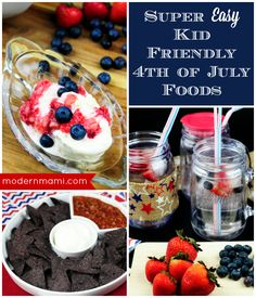 These super easy red, white, and blue foods make for a wonderful kid-friendly Fourth of July! Have fun celebrating Independence Day with your family!