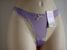AFFINITAS INTIMATES SEXY PANTIES WITH LACE TRIM  SIZE S COLOR LILAC  #AFFINITAS #AFS8C04