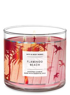 Shop Flamingo Beach Candle at Bath And Body Works! Fill your home with the most irresistible, beautiful fragrance today. Bath Candles, Pink Candles, 3 Wick Candles, Mason Jar Candles, Scented Candles, Homemade Candles, Tropical Candles, Flamingo Beach, Flamingo Decor