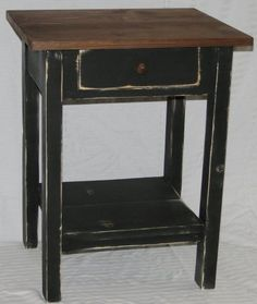 Anywhere End Table with Drawer - $99.99 : The Old Country Cupboard - Primitive & Country Furniture