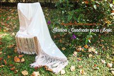 Mantón Plain Silk spanish flamenco Hand Made  por AmapolasMoras