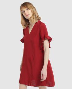 8518869ec Las 26 mejores imágenes de vestidos rojos cortos