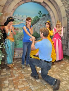 If I can't have my wedding at Disney, I at least be proposed to there. - 10 Most Romantic Places To Propose At Disney Wedding Proposals, Marriage Proposals, Romantic Proposal, Proposal Ideas, Perfect Proposal, Winter Proposal, Proposal Photos, Romantic Photos, Romantic Ideas