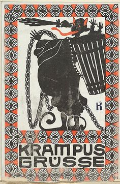 Maria Pranke (Hungarian, 1891–1972). Greetings from the Krampus, 1908. The Metropolitan Museum of Art, New York.Museum Accession, transferred from the Library (WW.188). #krampus #christmas
