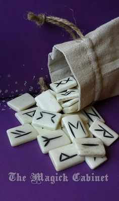 BACK IN STOCK! Bone Runes, Rune Set, Elder Futhark, 25 Runes, Age Old, Casting Runes, Viking, Water Buffalo Bone, Divination, Magic, Pagan Tools, Witch by TheMagickCabinet on Etsy