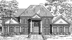 Colonial House Plan with 4498 Square Feet and 4 Bedrooms from Dream Home Source | House Plan Code DHSW72607