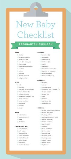 a complete checklist of all the items you'll need to prepare for a baby - it even includes newborn gear guides and suggestions to fit every budget!