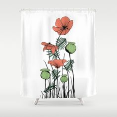 Poppies in Color Shower Curtain