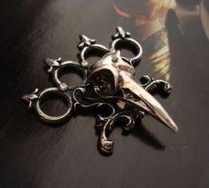 Bird skull knuckle ring
