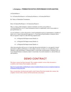 Free Employee Termination Form Sample Position Contract Page 2  Business Model  Model Contract .
