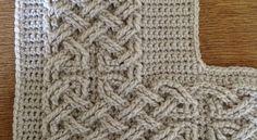 Book of Kells - Large Celtic Cables by Suvi Crochet Cable, Crochet Round, Diy Crochet, Crochet Crafts, Crochet Stitches, Crochet Edgings, Crochet Afghans, Crochet Ideas, Crochet Angel Pattern
