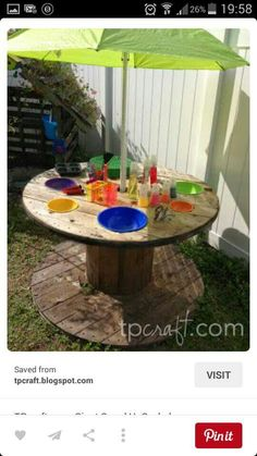 Love this easy to make mud kitchen!